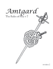 Cover of the Amtgard 7.2 rulebook.
